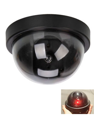Picture of VESKYS Simulation Camera Security CCTV Dome Camera With Flashing Red LED Light