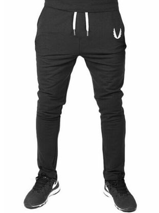 Picture of Men's Sports Pants Solid Color Elastic Soft Casual Outdoor Sports Pant - M