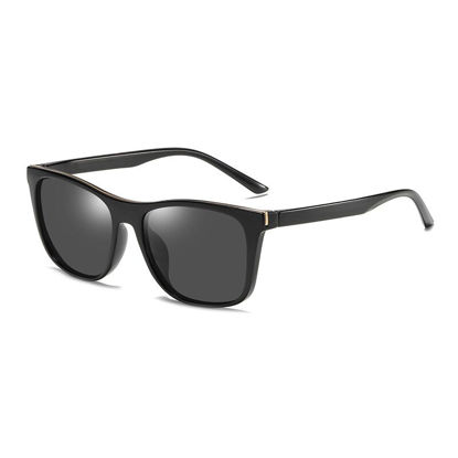 Picture of Men's Sunglasses UV Protection Square Frame Polarizing Eyewear - One Size