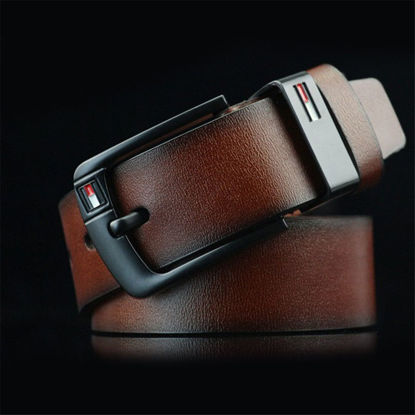 Picture of Men's Belt Pin Buckle Solid Color Casual Accessory - One Size
