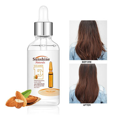 Picture of Vitamin E Almond Essence Oil Fast and Strong Nourish Deep Moisturizing Hair Serum 50ml