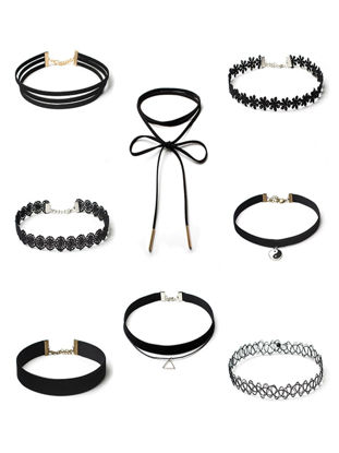 Picture of 8 Pcs Women's Choker Set Multi Element Delicate Fair Lady Sweet Accessory - One Size