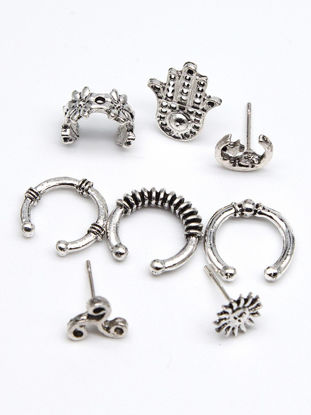 Picture of Women's Hoops Simple Style Multi Shape Combination Trendy Accessories Set - Free