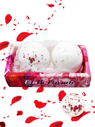 Picture of 2Pcs Bath Blasters Rose Exfoliating Refreshing Nourish Bath Ball Kit