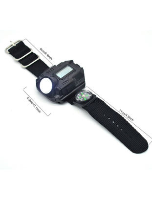 Picture of LED Light Super Bright Rechargeable Waterproof Wrist-Light With Compass LED Light