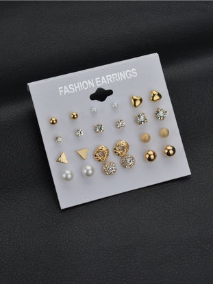 Picture of 24 Pcs Women's Studs All Matched Fashionable Trendy Brief Alloy Stud Accessory - Free