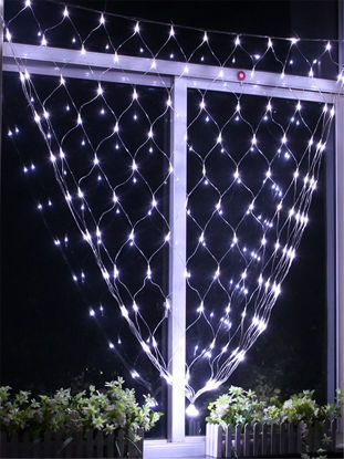 Picture of 96 LED Fairy Fishing Mesh Net String Lighting Outdoor Party Festival Decoration