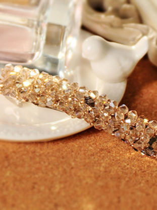Picture of 1 Pc Women's Hair Clip Imitation Crystal Inlay Delicate Elegant Hair Accessory - One Size