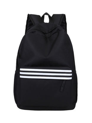 Picture of Men's Backpack Large Capacity Brief Design Color Block Striped Bag - One Size