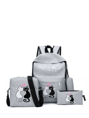 Picture of 4Pcs Kid's Backpack Set All Matched Preppy Fashion Exquisite Boy'sSchoolBags - One Size