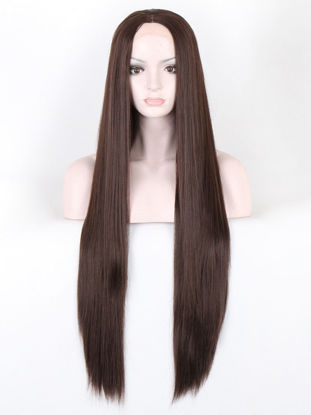 Picture of Women's Synthetic Hair Wig Elegant Stylish Long Straight Design Hair Wig - 28 inch