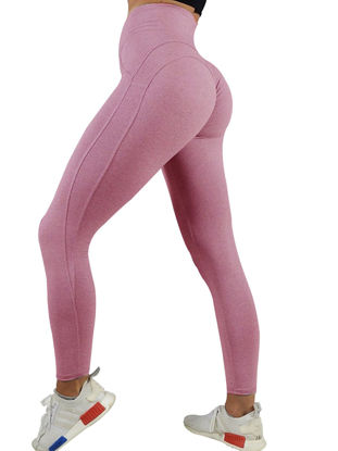 Picture of Women's Sports Pants Simple Skinny Solid Color Fitness Yoga Pants - L