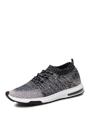 Picture of Men's Running Shoes Damping Comfy Skidproof Low Cut Flyknit Air Cushion Shoes - 45