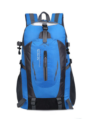 Picture of Men's Backpack Color Block Large Capacity Outdoor Bag - One Size