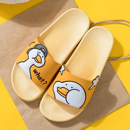 Picture of Couple Slippers Non Slip Open Toe Outdoor Use Cartoon Printed Cute Slippers - 38-39