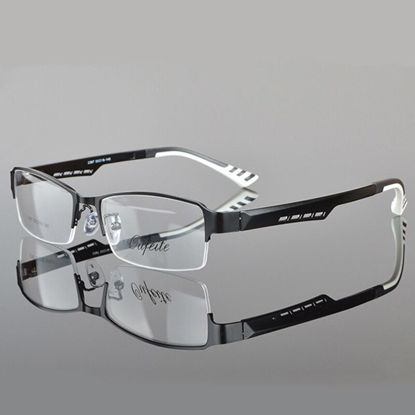 Picture of Spectacle Frame Men Eyeglasses Korean Nerd Computer Prescription Optical For Male Eyewear Clear Lens Glasses Frame - One Size