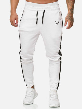 Picture of Men's Sport Pants Casual Patchwork Bandage Trousers - XXL