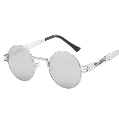 Picture of Men's Sunglasses UV Protection Round Frame Polarizing Eyewear - One Size