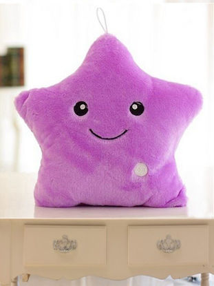 Picture of 1Pc Unique Decorative Pillow Vivid Lucky Star Design LED Light Cushion - Type:Pillow