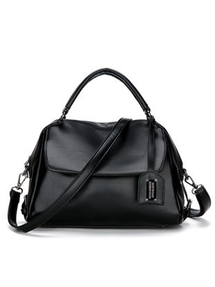 Picture of Women's Handbag Vintage Simple Style Elegant Solid Color Bag - Free