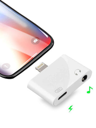 Picture of iPhone XS/XS Max/XR/X Data Cable Lightning 3.5 MM Adapter Charging Music Calling Data Jack Converter - Type:IOS