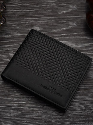 Picture of Men's Wallet Solid Color Simple Print All Match Faddish Short Wallet - One Size