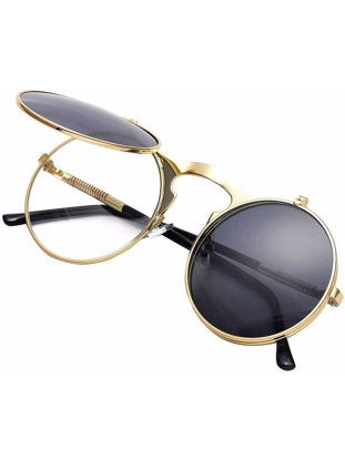 Picture of Women's Sunglasses Vintage Round Shape Design Circle Sun Glasses Accessory