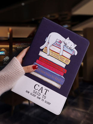 Picture of Tablet PC Protective Case Cartoon Cat Pattern Full Protective Anti-Scratch Flip Cover For iPad - iPad Pro 9#7-inch