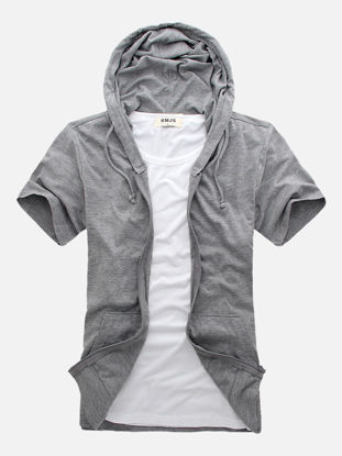 Picture of Men's T-Shirt Fashion Casual Patchwork Top - M
