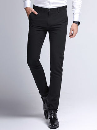 Picture of Middle-aged men's pants 4050 years old thin daddy trousers men's cotton middle-aged casual pants - 35