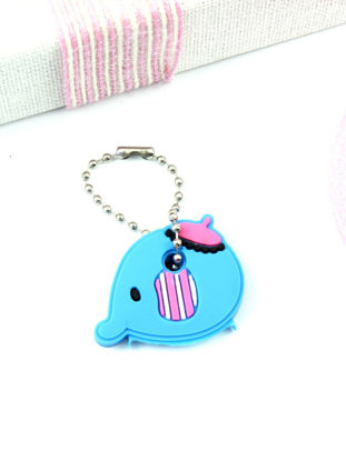 Picture of 1Pc Lovely Cartoon Animal Silicone Key Cover Key Cap Keychain Pendant - One Size
