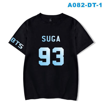 Picture of Hot sale BTS bulletproof youth group loose large size printing men and women short-sleeved T-shirt - XXL