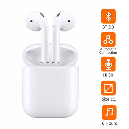 Picture of Bluetooth Headphone Stereo Sound Wireless Noise Reduction Earphone iPhone X /XS/XR 8/7/ Huawei/Samsung Galaxy Series