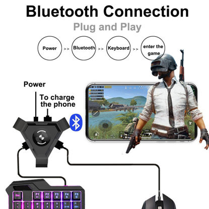 Picture of PUBG Gamepad Controller Mouse And Keyboard Converter For Android Phone to PC Bluetooth Adapter