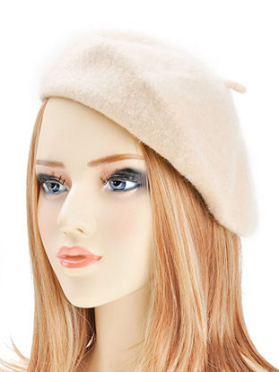Picture of Women's Simple Beret Pure Color All Match Fashion Imitated Wool Elegant Beret - Size: One Size