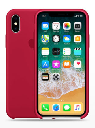 Picture of iPhone XS/XS Max/XR/X/8/8 Plus/7/7 Plus/6/6S/6 Plus/6S Plus/5/5S/SE Phone Cover Solid Color Silicone Gel Phone Case - Size: IPHONE 6/6S