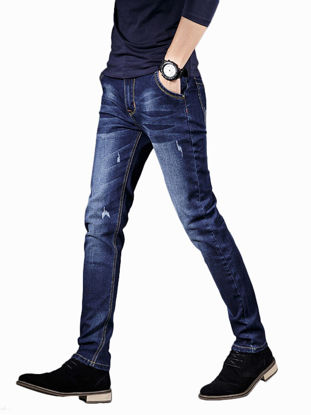 Picture of Men's Fashion Jeans High Quality Slim Casual Business Jeans - Size: 33