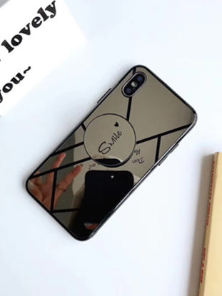 Picture of iPhone X/8/8 Plus/7/7 Plus/6S/6S Plus/6/6 Plus Phone Case With Air Bag Holder Stylish Mirror Surface Cover - Size: IPhone X