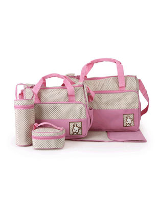 Picture of Mom's Diaper Bag Set Cute Design Simple Casual Durable Maternity Product - Size: One Size