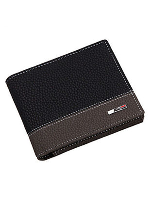 Picture of Men's Wallet Patchwork 2 Fold Card Holder Fashion Wallet - Size: One Size