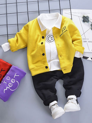 Picture of Toddlers Baby Boy's 3 Pcs Set Casual Style Fashion Outfits - Size: 90cm