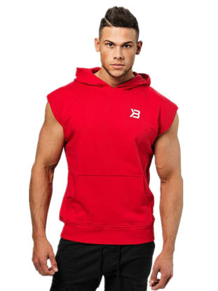 Picture of Men's Hoodie Sleeveless Slim Pocket Decoration Hoodie - Size: L