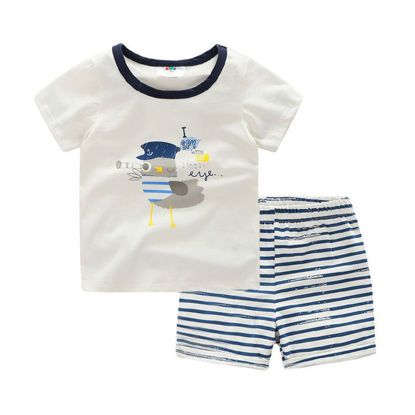 Picture of Toddler Boys Boy's 2 Pcs Set Casual Style Comfy Shorts Set - Size: Reference Height:130cm
