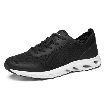 Picture of Men's Running Shoes Low Top Lacing Breathable Damping Comfy Sports Shoes - Size: 43