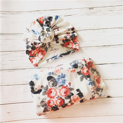 Picture of Ylsteed 2Pcs Blanket & Swaddling Floral Cute Fashion Bedding - Size: Free