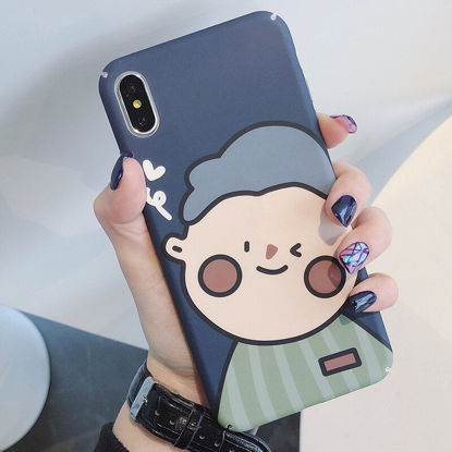 Picture of Huawei Series Phone Cover Cartoon Lovely Couple Printed Protective Case - Size: Huawei Honor 8X