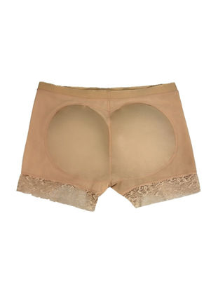 Picture of Women's Shapewear Buttock Augmentation Hip Lifted Solid Color Boyshorts - Size: XXL