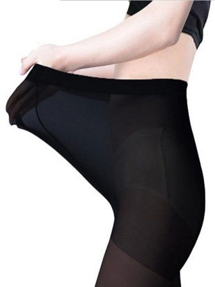 Picture of Women's Plus Size Tights 80D Compression Solid Skinny Tights - Size: One Size