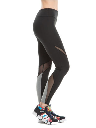 Picture of Women's Sports Pants Mesh Patchwork Hollow Out Elastic Slim Yoga Leggings - Size: XL