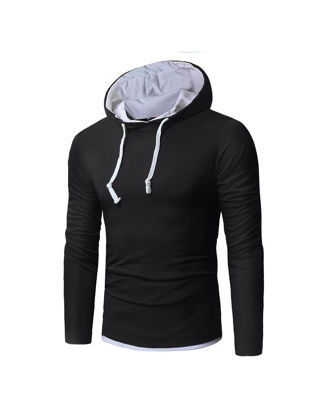 Picture of Men's Hoodie Casual All Match Hooded Long Sleeve Hoodie - Size: M
